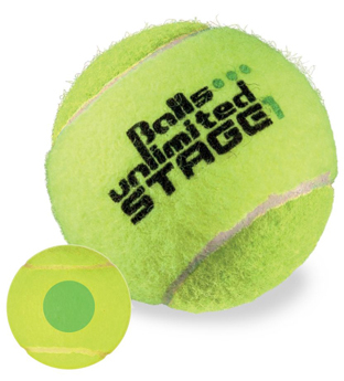 Methodik-Tennisball Stage 1, Stage 1, grün