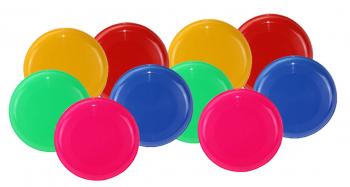Wurfscheibe/Frisbee 10er-Set