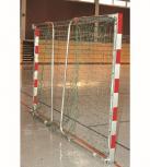 Handballtor mit Tortiefe 1,25 m, in Bodenhülsen