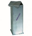 Bodenhülse Stahl 120 x 120 mm, feuerverzinkt