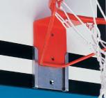 Basketballkorb starr, 2-Loch-Befest., mit Steckplatte