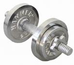 Kurzhantel-Set 10 kg, chrom
