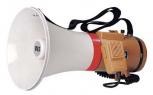 Schultermegaphon mit Sirenensignal