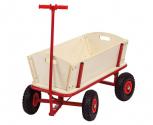Gerätetransportwagen aus Holz / Bollerwagen