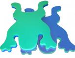 BlockX-Schwimmfrosch, blau/grün