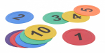 Bodenmarkierung Zahlen 1 - 10
