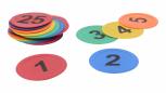 Bodenmarkierung Zahlen 1 - 25