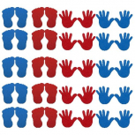 Bodenmarkierungs-Set 'Hand und Fuß', 20er Set