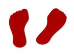 Bodenmarkierung Füße