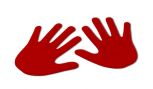 Bodenmarkierung Hände