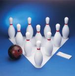 Bowlingspiel mit 10 Kegel