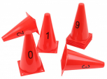 Markierkegel mit Zahlen, 10er Set
