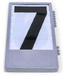 Zahlentableaux Nr. 0 - 9, schwarz