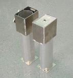 Kombi-Bodenhülse zur Beschichtung 120x100 mm