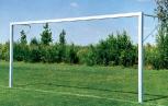 Fußballtor, aus 80x80 Eckprofil, in Bodenhülsen
