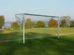 Fußballtor, aus Alu-Ovalprofil, in Bodenhülsen