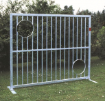 Bolzwand 2,50 x 2,00 m, aus feuerverzinktem Stahl