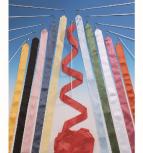 Wettkampf-Gymnastikband F.I.G., 6 m lang, 5 cm breit, rosa